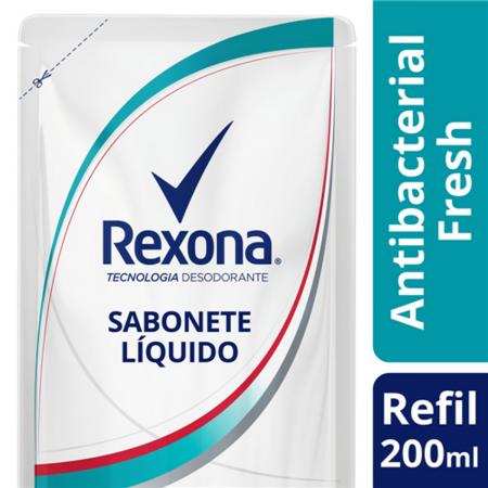 Refil Sabonete Líquido Rexona Antibacterial Fresh