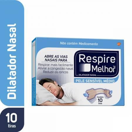 Dilatador Nasal Respire Melhor Pele Seca/Sensível