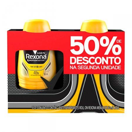 Kit Desodorante Roll On Rexona Men V8
