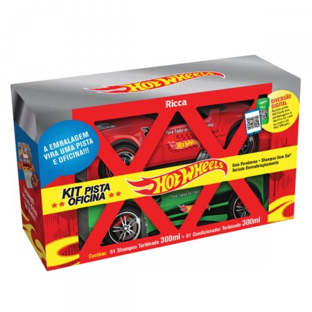 Kit Shampoo e Condicionador Ricca Pista Oficina Hot Wheels Turbinado