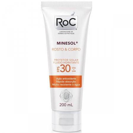 Protetor Solar Roc Minesol Corpo & Rosto FPS30