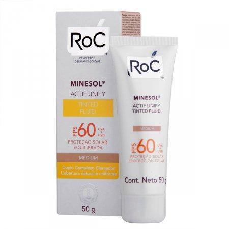 Protetor Solar Roc Minesol Actif Unify Tinted Fluid Medium FPS60