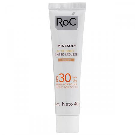 Protetor Solar Roc Minesol Actif Unify Tinted Mousse Medium FPS30