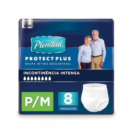 Roupa Íntima Descartável Plenitud Protect Plus P/M com 8 Unidades