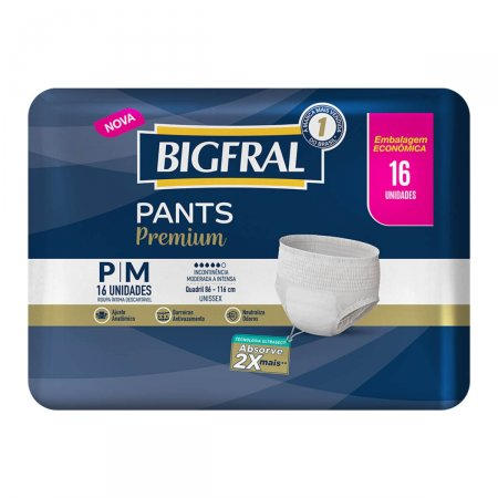 Roupa Íntima Bigfral Pants Premium Tamanho P/M