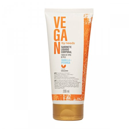 Sabonete Líquido Corporal Vegan by Needs Vanilla + Pitanga 200ml  