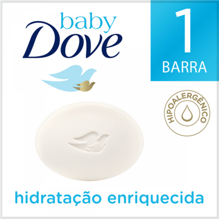 Sabonete em Barra Baby Dove Hidratação Enriquecida