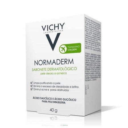 Sabonete Facial em Barra Vichy Normaderm Pele Oleosa a Acneica com 40g