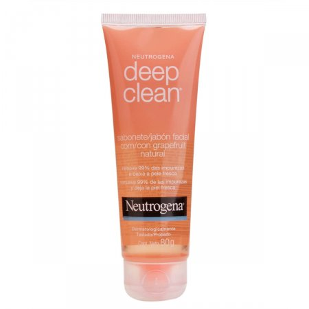 Sabonete Facial Neutrogena Deep Clean Grapefruit com 80g