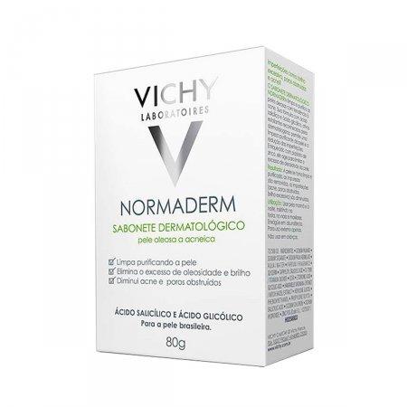 Sabonete Facial em Barra Vichy Normaderm Pele Oleosa a Acneica com 80g