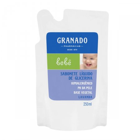 Sabonete Líquido Infantil de Glicerina Granado Bebê Lavanda Refil