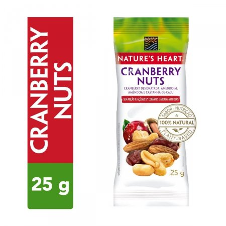 Snack Nature's Heart Cranberry Nuts