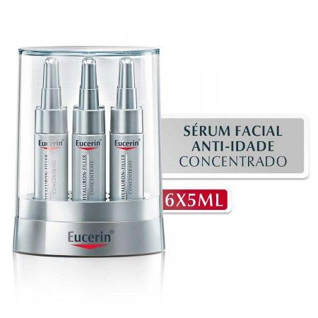 Sérum Facial Anti-Idade Eucerin Hyaluron-Filler Concetrate com 6 Ampolas