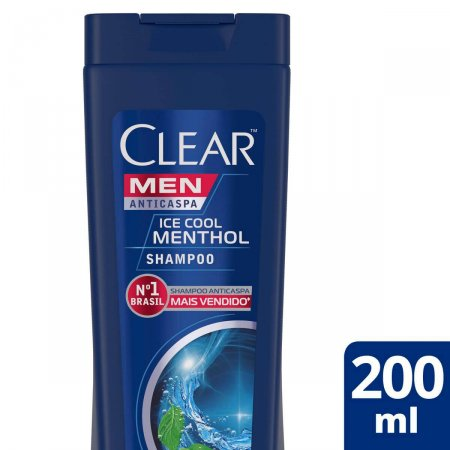 Shampoo Anticaspa Clear Men Ice Cool Menthol com 200ml