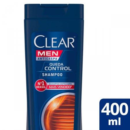 Shampoo Anticaspa Clear Men Queda Control com 400ml