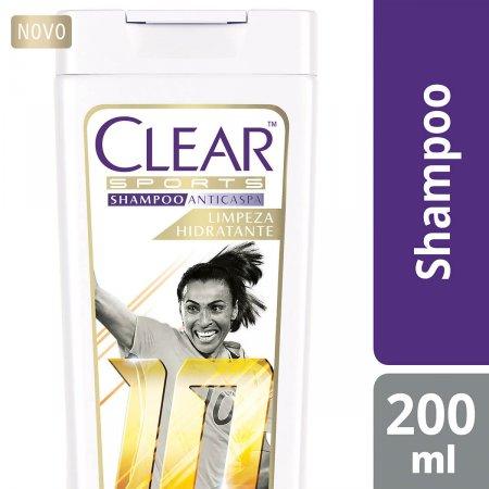 Shampoo Anticaspa Clear Sports Women Limpeza Hidratante com 200ml