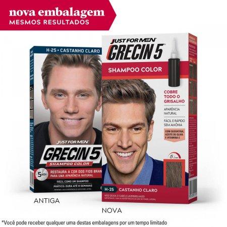 Shampoo Color Grecin 5 Just For Men Castanho Claro com 1 Unidade