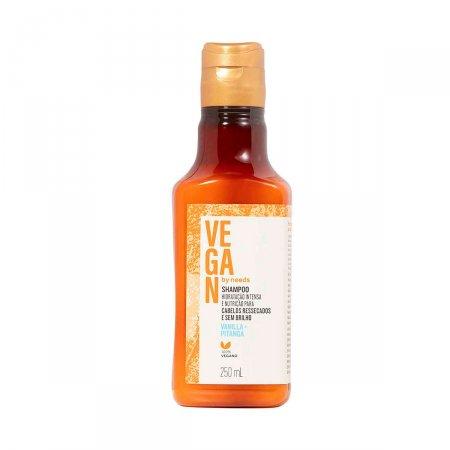 Shampoo Vegan by Needs Cabelos Ressecados Vanilla + Pitanga