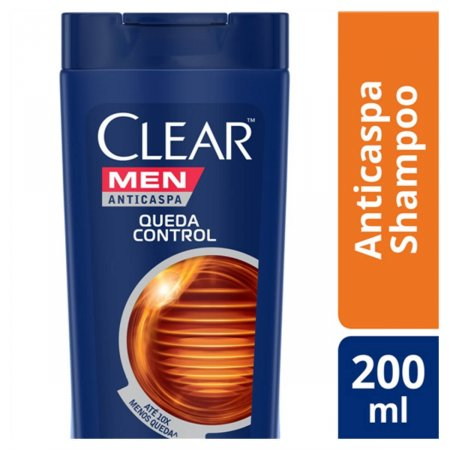 Shampoo Anticaspa Clear Men Queda Control com 200ml
