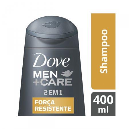 Shampoo e Condicionador Dove Men +Care 2 em 1 Força Resistente com 400ml