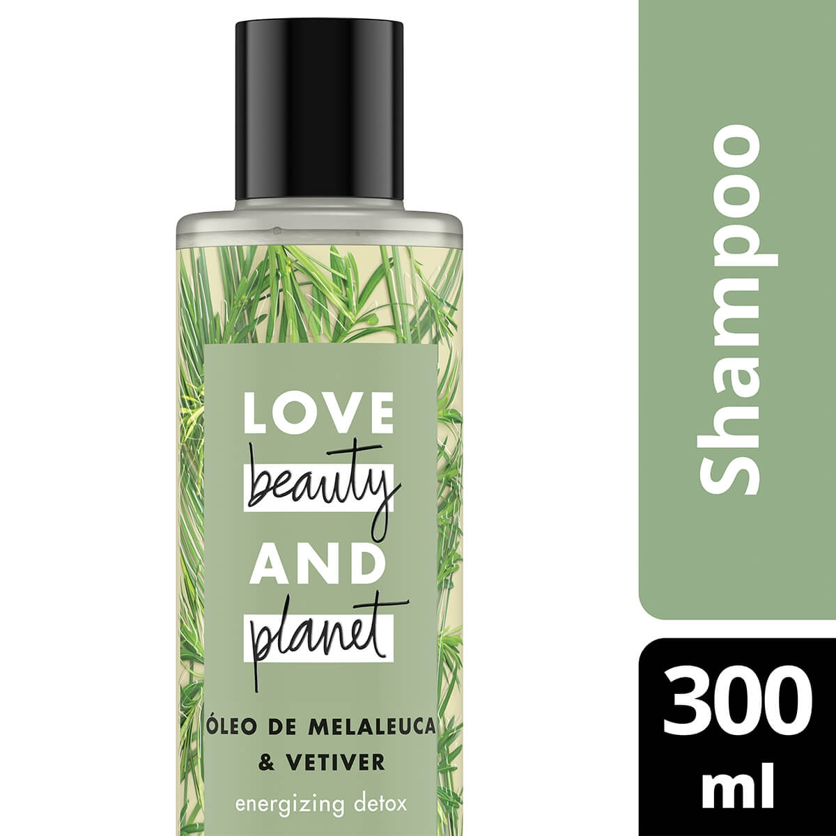 Shampoo Energizing Detox Óleo de Melaleuca & Vetiver Love, Beauty And Planet 300ml Love, Beauty And Planet