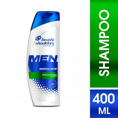 Shampoo de Cuidados com a Raiz Head & Shoulders Men Menthol Sport
