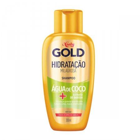 Shampoo Niely Gold Hidratação Poderosa Água de Coco