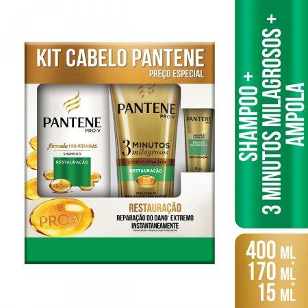 Kit Pantene Shampoo + Condicionador Restauração