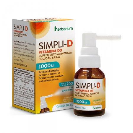Vitamina D Simpli-D 1.000UI Spray com 20ml