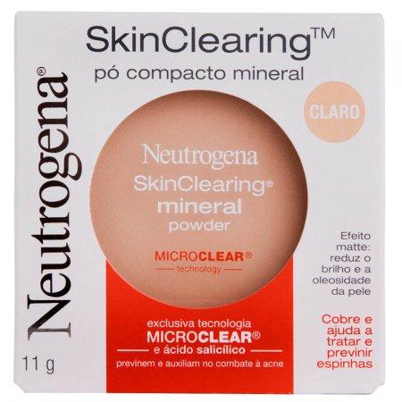 Pó Compacto Mineral Neutrogena Skin Clearing Mini Powder Claro