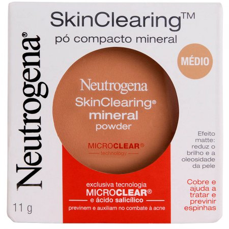 Pó Compacto Mineral Neutrogena Skin Clearing Mini Powder Médio