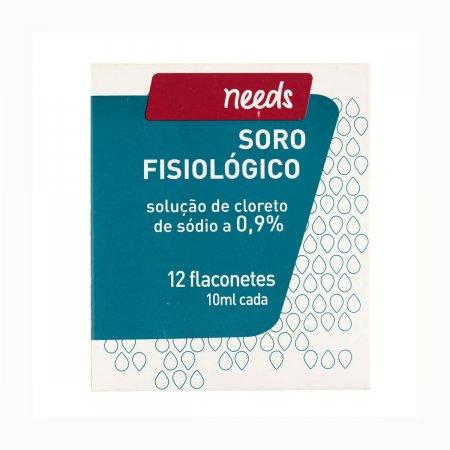 Soro Fisiológico Cloreto de Sódio 0,9% Needs com 12 flaconetes de 10ml