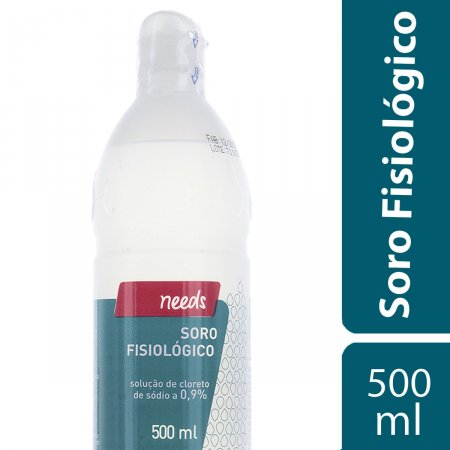 Soro Fisiológico Cloreto de Sódio 0,9% Needs com 500ml