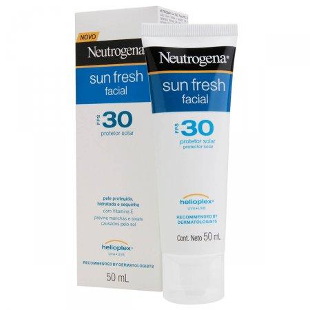 Protetor Solar Facial Neutrogena Sun Fresh FPS 30 com 50ml