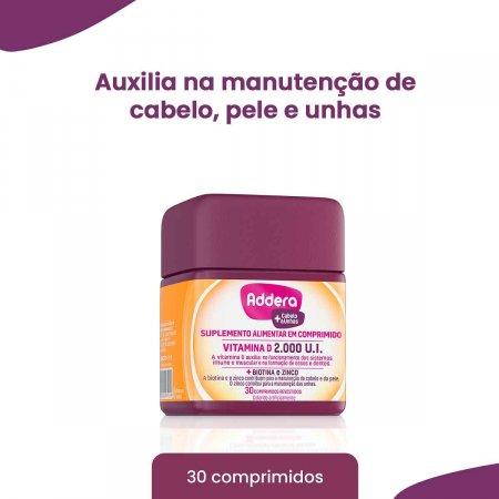 Addera +Cabelo & Unhas 2.000UI com 30 Comprimidos