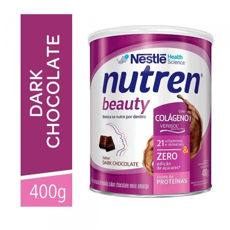 Suplemento Alimentar Nutren Beauty Dark Chocolate com 400g