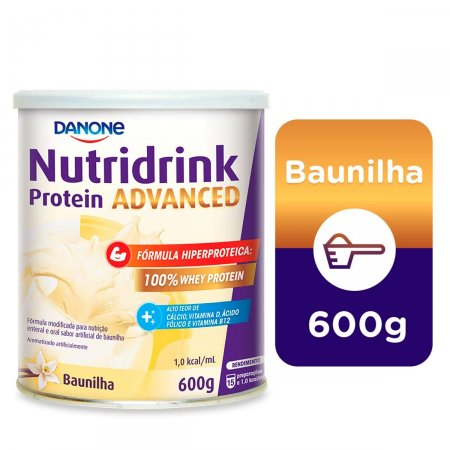 Suplemento Alimentar Nutridrink Protein Advanced Baunilha com 600g Foto 2