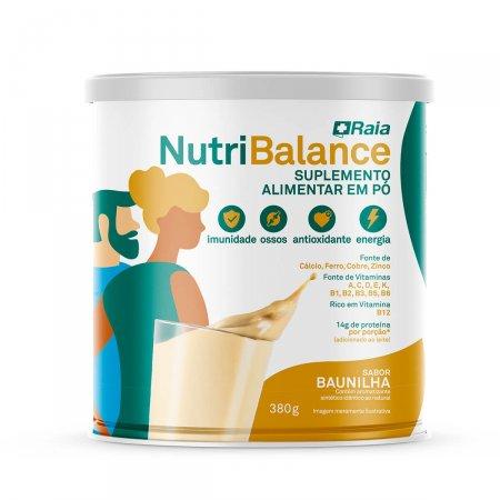 Suplemento Alimentar em Pó Nutri Balance Raia Baunilha com 380g