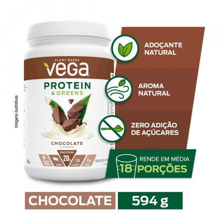 Suplemento Alimentar Vega Protein Chocolate com 594g