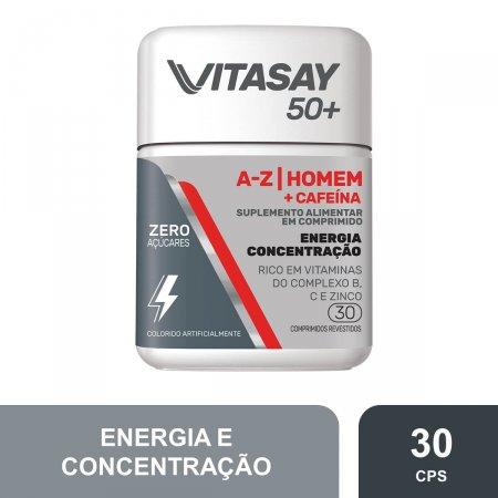 Suplemento Alimentar Vitasay 50+ Homem A-Z + Cafeína