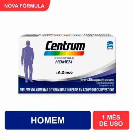 Multivitamínico Centrum Essentials Homem de A a Zinco com 30 Comprimidos