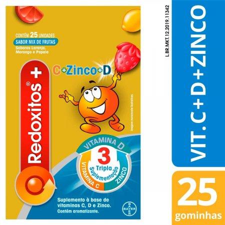 Suplemento Vitamínico Redoxitos Sabor Mix de Frutas com 25 Gomas