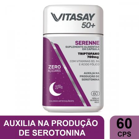 Suplemento Alimentar Vitasay 50+ Serenne 60 Cápsulas | Drogaraia.com Foto 2