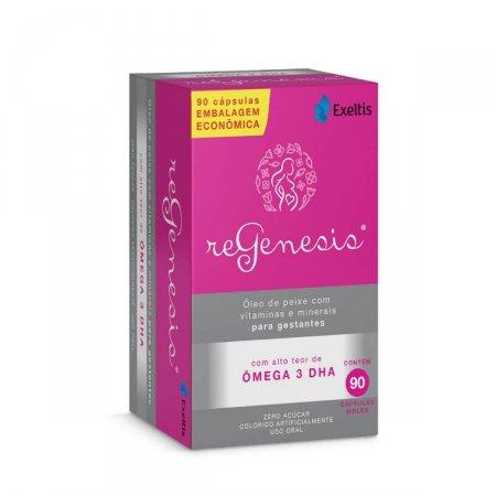 Suplemento Vitamínico e Ômega 3 DHA Regenesis com 90 cápsulas