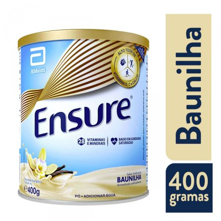 Suplemento Nutricional Ensure Sabor Baunilha com 400g