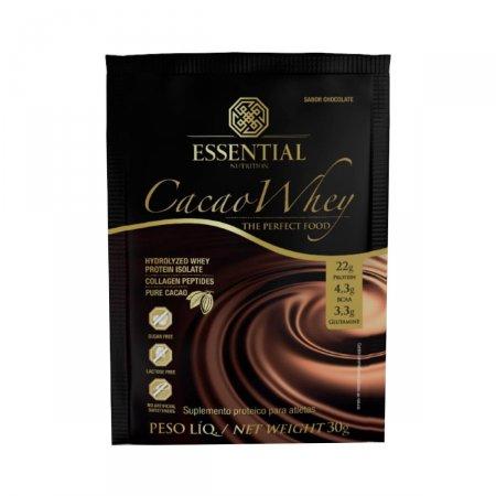 Suplemento Proteico Cacao Whey Essential Nutrition Sachê Chocolate