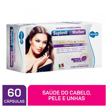Suplemento Vitamínico Mineral Suplevit Mulher com 60 cápsulas