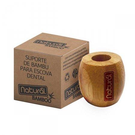 Suporte de Bambu para Escova de Dente Natural Bamboo com 1 Unidade