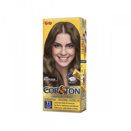 Tintura Cor&Ton Niely 7.1 Louro Cinza Médio