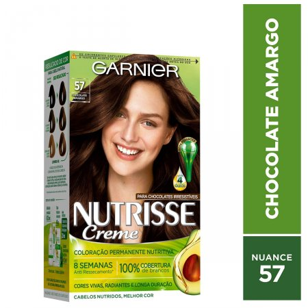 Tintura Permanente Nutrisse Creme 57 Chocolate Amargo